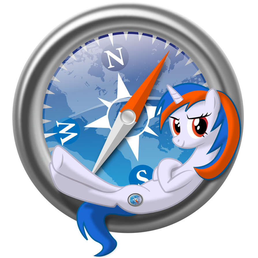 Safari browser pony logo