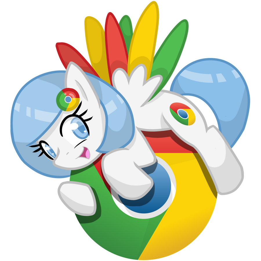Chrome browser pony logo