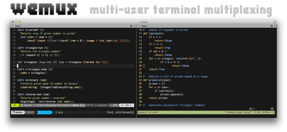 wemux: Multi-User Tmux Sessions Made Easy