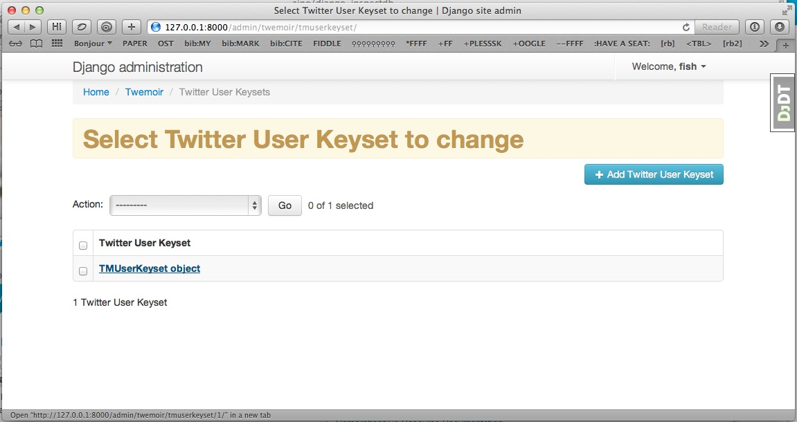 editing a twitter user Oauth2 keyset