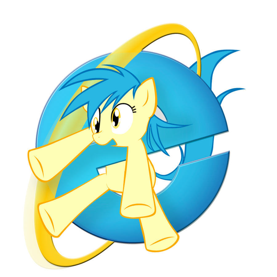 Internet Explorer browser pony logo