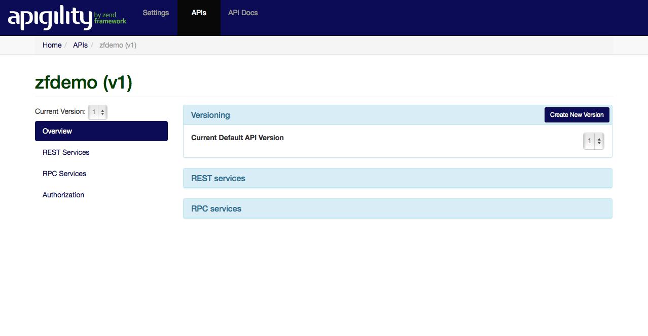 New zfdemo API