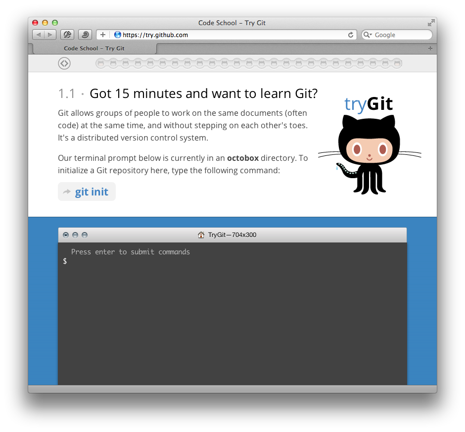 Try Git Site
