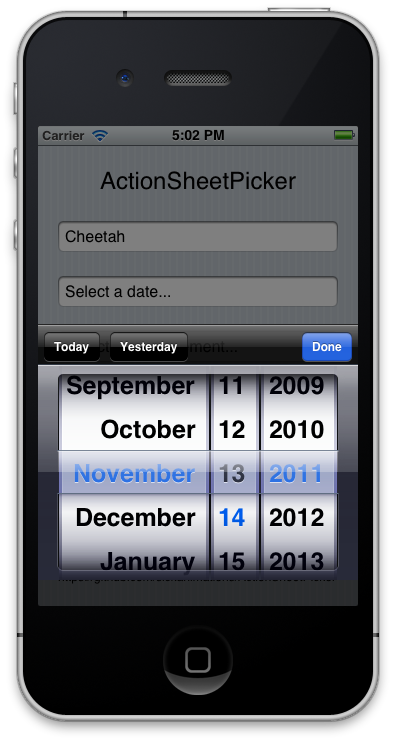 ActionSheetDatePicker